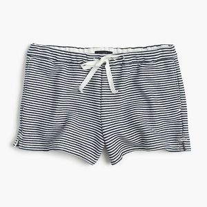 JCREW New Navy White Striped Cozy Beach Shorts